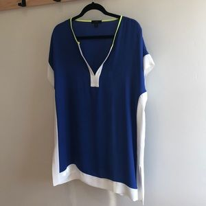 J crew color-block beach cover up
